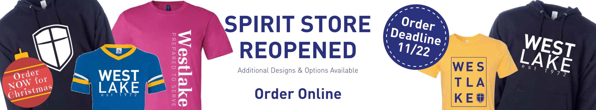 WCA Spirit Wear Store ReOpened - Order now through 11/22