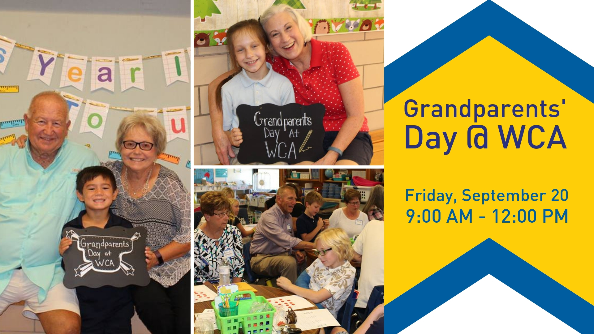 Grandparents' Day is Friday, September 20  |  9:00 AM - 12:00 PM