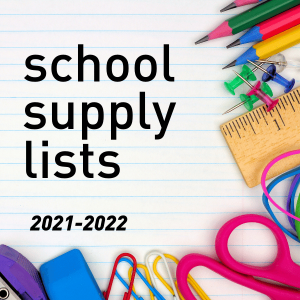 School Supply Lists 2021